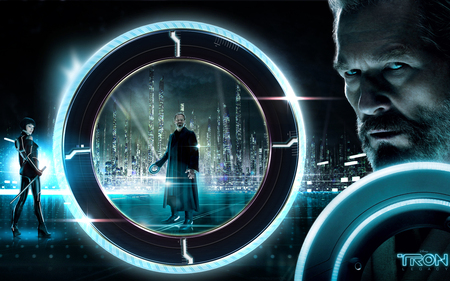 Tron Legacy - legacy, grid, tron, blue, enter, world black, disc, currla