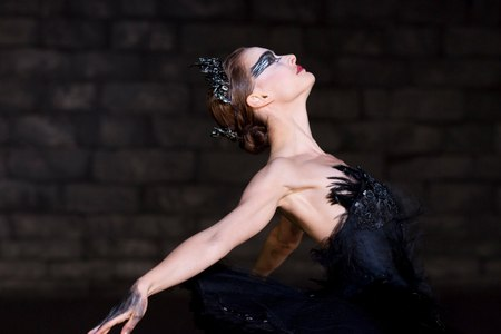 Natalie the Black Swan - swan, movie, film, black, ballet dancer, ballerina, cinema, dance, ballet, natalie portman, entertainment, scene, black swan