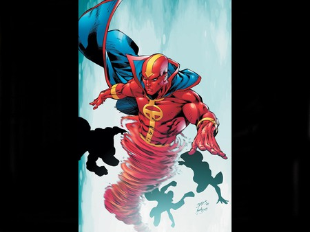 Red Tornado - comic, tornado, red, art, fantasy