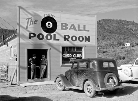 Pool Hall - cue, balls, pool, tables