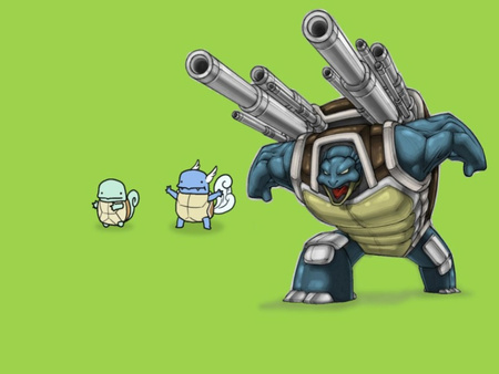 Evolution - blastoise, videogame, squirtle, evolution, anime, video game, nintendo, wartortle, pokemon
