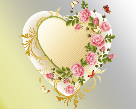 flower heart  flowers  nature background wallpapers on desktop, Beautiful flower