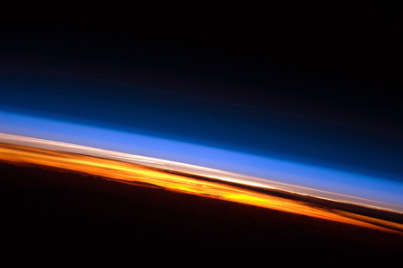 Sunset seen from the International Space Station - iss, space, sunset, indian ocean, photograph