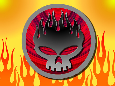the offspring logo flames music amp entertainment
