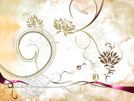 Amber's background - abstract, background, floral, swirls