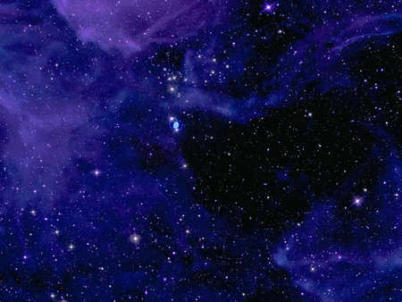 Deep Space - stars, space, blue space, outer space