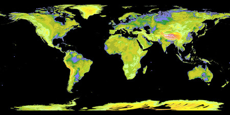 Topography - earth, map, world, other