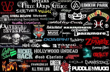 Rock Music - music, rock, collage, bands