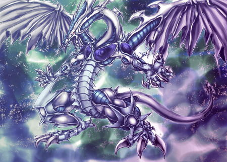 Stardust Dragon - monster, wings, tail, stardust dragon, yu gi oh, yugioh, dragon, anime, claws, yu-gi-oh