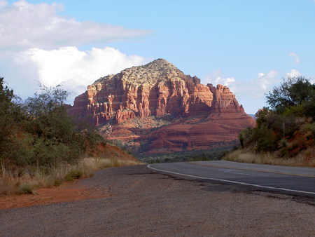 Sedona - mountain sunset, mountain highway, mountain, road to mountain