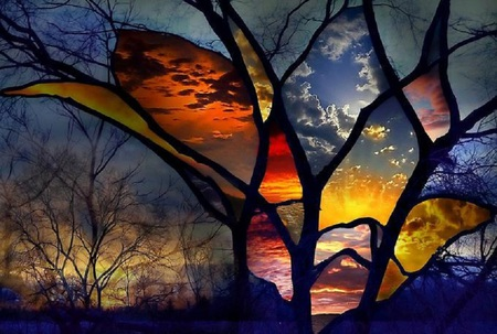 beautiful stained glass wallpaper - photo #35