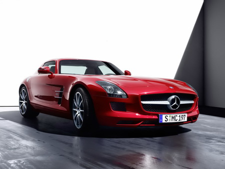 Mercedes Benz-SLS AMG - 2011, sls, exotic, amg, tuning, mercedes, benz, red, car