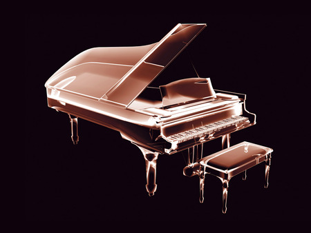 3D Neon Piano - piano, 3d and cg, colorful, beautiful, 3d, neon