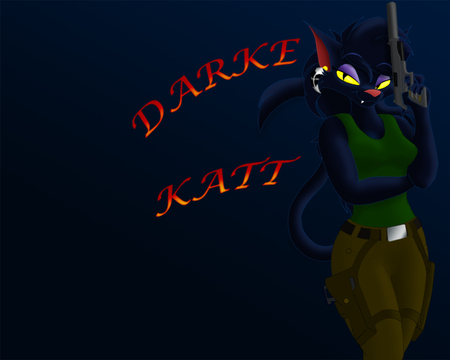 Darke Katt - furry, gun, darke, katt