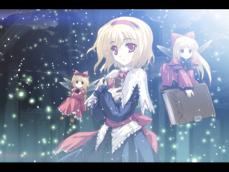 Alice Margatroid - schanghai, alice, blue, hair, margatroid, touhou, forest of magic, blond