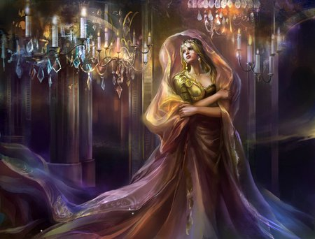 PRINCESS - dress, female, chandelier, princess