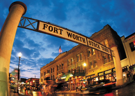 Fort Worth National Historic Stockyards - fort worth, bulidings, cowtown, city, historic