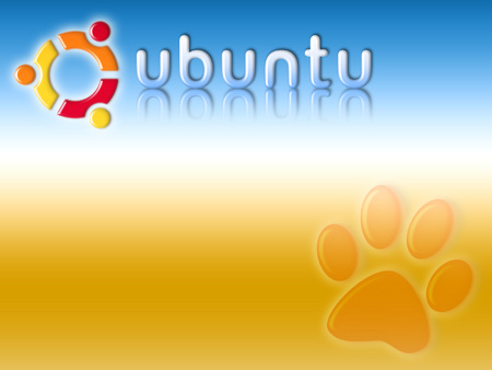 land-of-ubuntu - ubuntu, paw print, gradient
