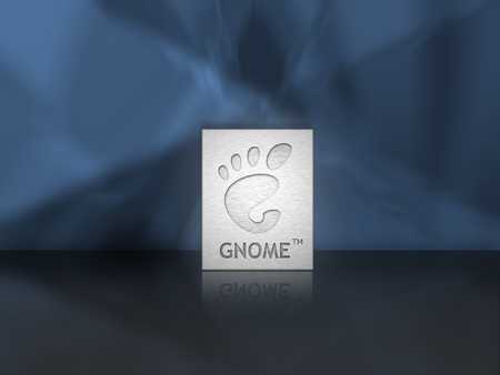 Gnome Plate - plate, brushed aluminum, gnome