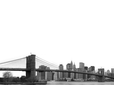 Untitled Wallpaper - black and white, brooklyn bridge, sky