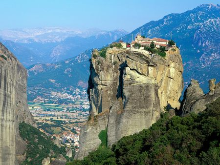 Monastery of Agia Triada Meteora Greece - greece, meteora, monastery of agia triada