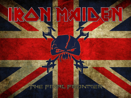 Iron Maiden - frontier, logo, iron, heavy, maiden, band, metal, final
