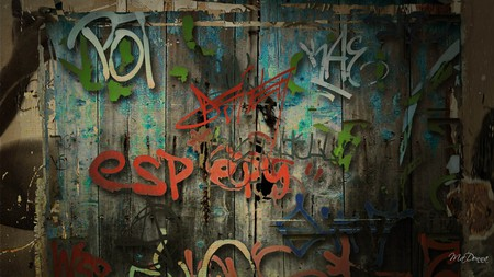 Graffiti Wall - dark, graffiti, grungy, persona, vintage, grunge, wall, paint