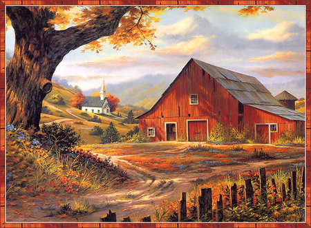 Red Barn Background the little red barn - farms & architecture background wallpapers