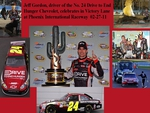 celebrates in Victory Lane at Phoenix International Raceway