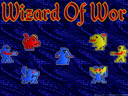 Wizard Of Wor - video game, arcade, wizard, wor, classic