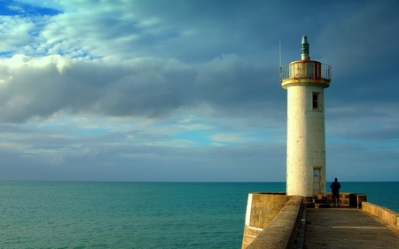 lighthouse - on the water, beacon, lighthouse, storm coming
