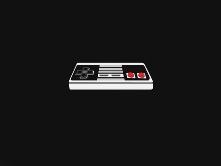 Nintendo on black feild - black, controler, nintendo