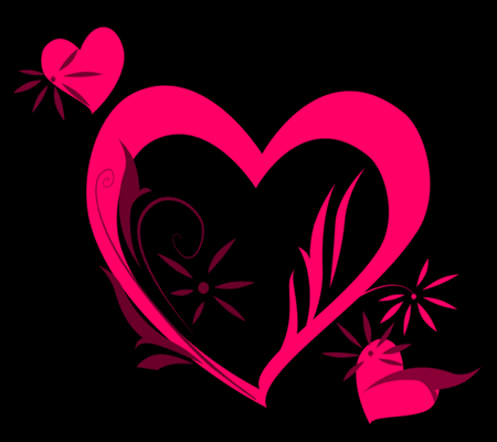 Hot Pink Hearts - 3D and CG & Abstract Background ...