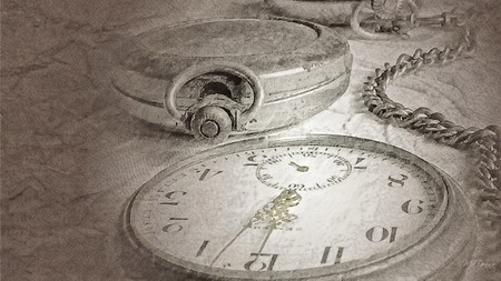 Antique Pocket Watch - time, timepiece, silver, antique, chain, gray, clock, vintage, watch