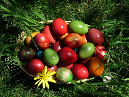 Easter eggs - nature, eggs, easter, colourful