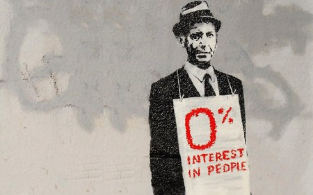 Banksy 0% Interest In People - interest, people, graffiti, toronto, art, bank, banksy