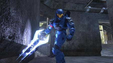 Halo - weapon, halo, video, game, blue
