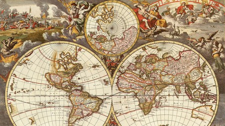 Old World Map Five - travel, map, globe, world, vintage, antique
