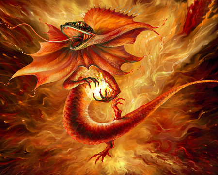 DRAGON - light, fire, fantasy, dragon
