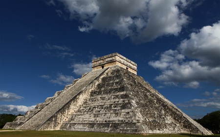 The Kukulkan Pyramid in Chichen Itza - mexico, ancient, mayan, architecture, pyramid