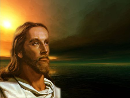 Christ sunset - sunset, religion, jesus, christ, god