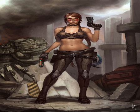 Imogene Commission - female, cool, guns, war, imogene commission, sexy