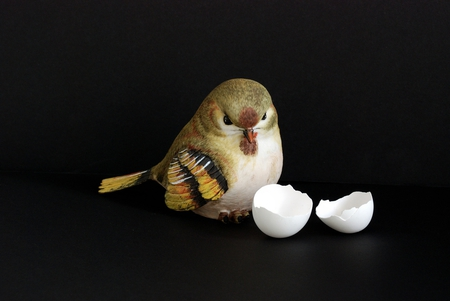 Easter bird - nice, bird, still life, egg, statue