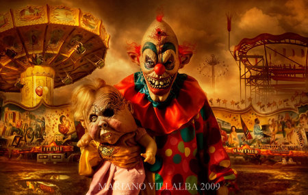 Carnival Of Horrors - creepy, carnival, horrors, clown
