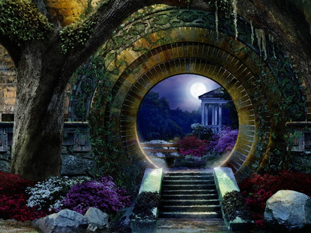 Moon Gate 3d And Cg Amp Abstract Background Wallpapers On