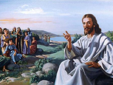 Image result for jesus preaches from a boat
