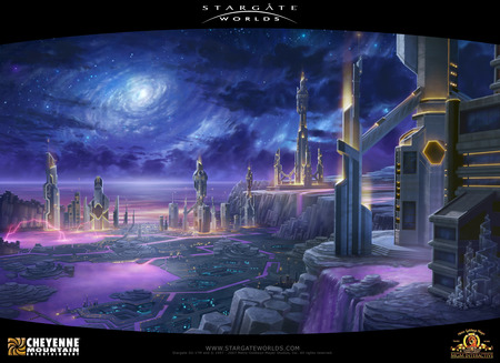 Ancient City - atlantis, worlds, science fiction, stargate worlds, ancient city, city, scifi, stargate