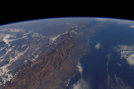 Chile From Space. - chile, earth, south america