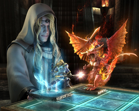 Wizard's  Game - game, rider, magic, dragon, 07, knight, wizard, sword, picture, fantasy, broad