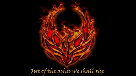 Out of the ashes we shall rise - of, ashes, rise, shall, burning, flames, phoenix, we, spiritual, the, courage, hope, ressurection, out, fantasy
